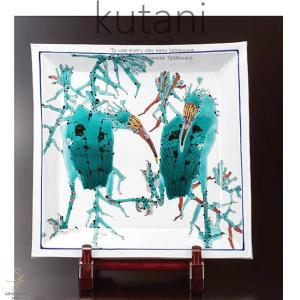 九谷焼 15号飾プレート 皿 とき相対大角絵プレート 皿 和食器 日本製 ギフト おうち ごはん うつわ 陶器|sara-cera