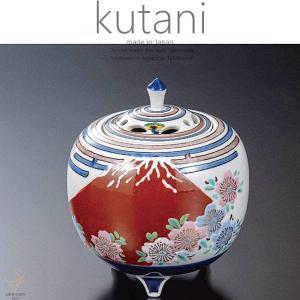九谷焼 4号香炉 富士桜 和食器 日本製 ギフト おうち ごはん うつわ 陶器|sara-cera