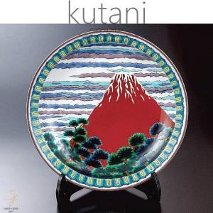 九谷焼 12号飾プレート 皿 赤富士 和食器 日本製 ギフト おうち ごはん うつわ 陶器|sara-cera