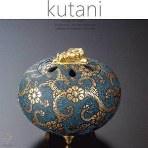 九谷焼 3.8号香炉 渦打青粒盛金鉄線文 和食器 日本製 ギフト おうち ごはん うつわ 陶器|sara-cera