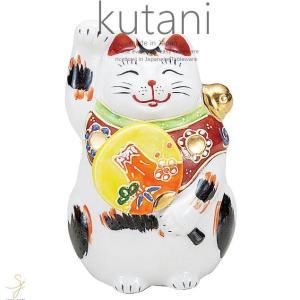 九谷焼 3.5号左団扇招き猫 三毛 和食器 日本製 ギフト おうち ごはん うつわ 陶器 sara-cera