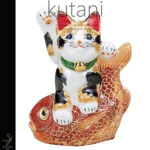 九谷焼 5号鯛乗り招き猫 毛長三毛 和食器 日本製 ギフト おうち ごはん うつわ 陶器 sara-cera