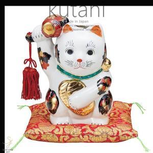 九谷焼 6号小槌上げ小判招き猫 三毛 和食器 日本製 ギフト おうち ごはん うつわ 陶器|sara-cera