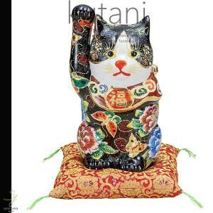 九谷焼 8号招き猫 牡丹 和食器 日本製 ギフト おうち ごはん うつわ 陶器|sara-cera