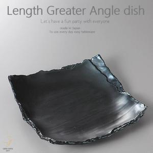 和食器 簡単おいしいチキンと野菜のサラダ 黒釉 長角皿 260×250×43mm おうち ごはん うつわ 陶器 美濃焼 日本製 インスタ映え sara-cera