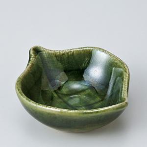 和食器 ちょこっと 木の葉小鉢 織部グリーン 豆鉢 ミニ プチ 小さな うつわ ボウル カフェ おしゃれ おうち 陶器 日本製|sara-cera