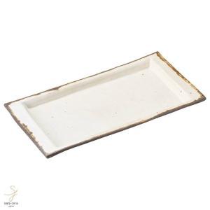 和食器 信楽焼 ホワイトダグ 32cm 長角皿 プレート ディッシュ 焼物皿 ホッケ さんま おうち カフェ 食器 陶器 しがらき焼 春日井 軽井沢 sara-cera