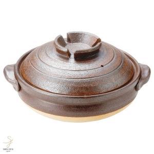 和食器 信楽焼 鉄赤 9号土鍋 おうち カフェ 食器 陶器 しがらき焼 らいすぼ〜る 春日井 軽井沢|sara-cera