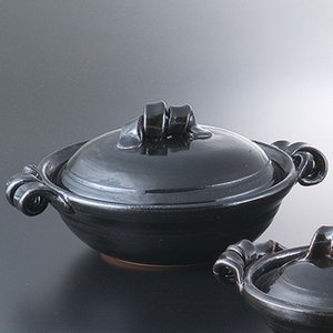和食器 土鍋 艶黒10.0鍋 万古焼 お鍋 直火 食器 おうち ごはん あったか 陶器|sara-cera