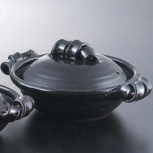和食器 土鍋 艶黒9.0鍋 万古焼 お鍋 直火 食器 おうち ごはん あったか 陶器|sara-cera