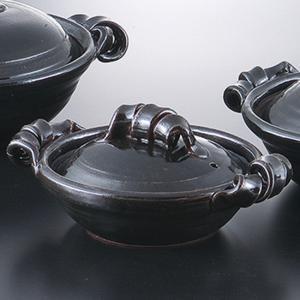 和食器 土鍋 艶黒7.0鍋 万古焼 お鍋 直火 食器 おうち ごはん あったか 陶器|sara-cera