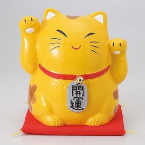 縁起物金運両手招き猫バンク小 ネコ ねこ 置物 ギフト 厄除け 開運 雑貨|sara-cera