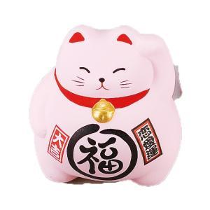 風水BKまる福招き猫・ピンク ネコ ねこ 縁起物 置物 ギフト 厄除け 開運 雑貨 金運 招き猫|sara-cera