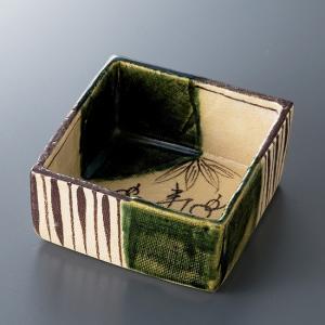 和食器 織部つる花角 小鉢 ボウル カフェ 食器 陶器 おうち おしゃれ プチ ミニ 日本製|sara-cera