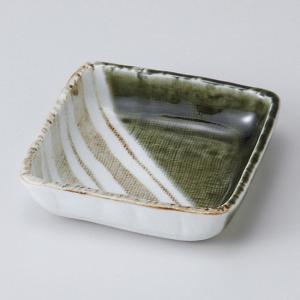 和食器 織部ストライプ4.0正角 小鉢 ボウル カフェ 食器 陶器 おうち おしゃれ プチ ミニ 日本製|sara-cera