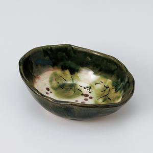 和食器 織部ぶどう楕円 小鉢 ボウル カフェ 食器 陶器 おうち おしゃれ プチ ミニ 日本製|sara-cera