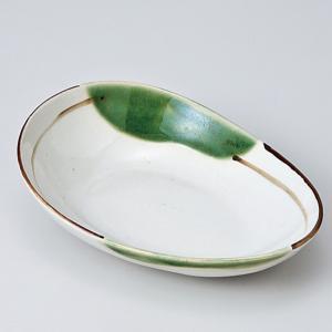 和食器 織部流し変型楕円小 小鉢 ボウル カフェ 食器 陶器 おうち おしゃれ プチ ミニ 日本製|sara-cera