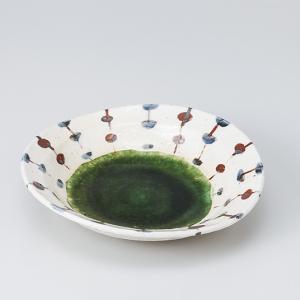 和食器 手描きすだれ織部楕円深皿 中鉢 ボウル おうち ごはん うつわ 陶器 カフェ 日本製 おしゃれ 煮物 サラダ|sara-cera