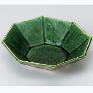 和食器 織部八角鉢 中鉢 ボウル おうち ごはん うつわ 陶器 カフェ 日本製 おしゃれ 煮物 サラダ|sara-cera