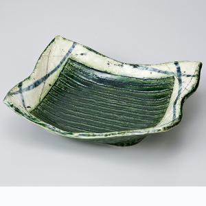 和食器 織部筋彫長角向付 中鉢 ボウル おうち ごはん うつわ 陶器 カフェ 日本製 おしゃれ 煮物 サラダ|sara-cera