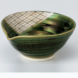 和食器 織部菱紋片口鉢 中鉢 ボウル おうち ごはん うつわ 陶器 カフェ 日本製 おしゃれ 煮物 サラダ|sara-cera