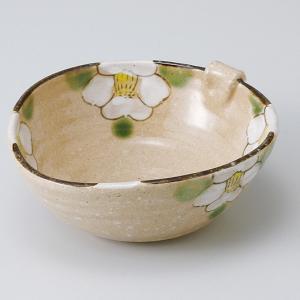 和食器 織部椿耳付小鉢 中鉢 ボウル おうち ごはん うつわ 陶器 カフェ 日本製 おしゃれ 煮物 サラダ|sara-cera