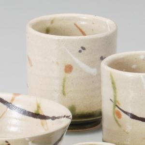 和食器 土物 手造り 弥七田織部湯呑 大 湯のみ 湯飲み コップ お茶 緑茶 カフェ おうち うつわ 陶器 美濃焼 日本製 おしゃれ|sara-cera