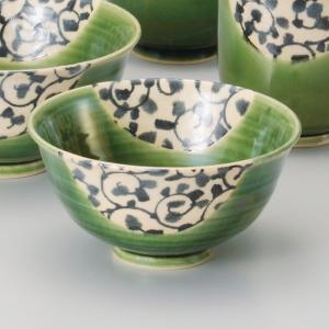 和食器 唐草織部 ご飯茶碗 飯碗 茶碗 おうち うつわ 陶器 日本製 らいすぼーる 軽井沢 春日井|sara-cera