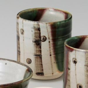 和食器 土物夢織部湯呑 大 湯のみ 湯飲み コップ お茶 緑茶 カフェ おうち うつわ 陶器 美濃焼 日本製 おしゃれ|sara-cera