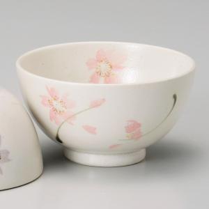 和食器 土物織部花ちらし ピンク 軽量 ご飯茶碗 飯碗 茶碗 おうち うつわ 陶器 日本製 らいすぼーる 軽井沢 春日井|sara-cera