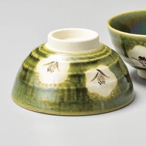 和食器 織部椿 大 ご飯茶碗 飯碗 茶碗 おうち うつわ 陶器 日本製 らいすぼーる 軽井沢 春日井|sara-cera