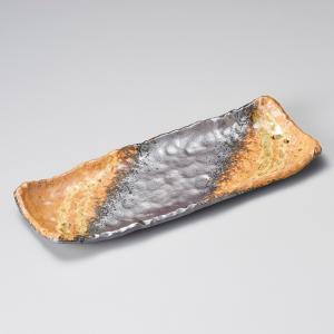 和食器 灰釉一珍さんま皿 萬古焼 31.5×12.5×3.5cm 長角皿 トレー うつわ おうち 陶器 カフェ おしゃれ 軽井沢 春日井|sara-cera