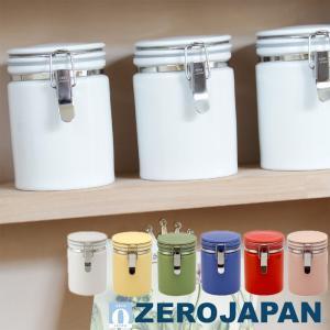 ZEROJAPAN ゼロジャパン 陶器 密閉ビン 茶筒 ティーキャニスター 100 Φ80×H115...
