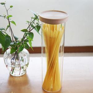 木製蓋付きキャニスターパスタケース|sara-style