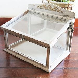 ホワイトWood・ガラスケース  |sara-style