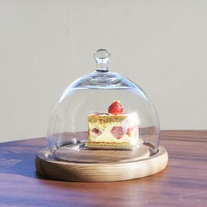 Woodトレイ・ガラスドームSサイズ(Round)|sara-style