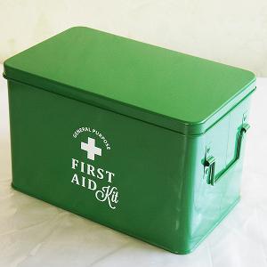 ホーロー・エイド缶Lサイズ(green)|sara-style