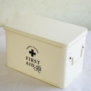 ホーロー・エイド缶Lサイズ(white)|sara-style
