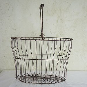 antiquewireバスケットLサイズ|sara-style