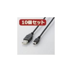 10個セット エレコム USB2.0ケーブル mini-Bタ...