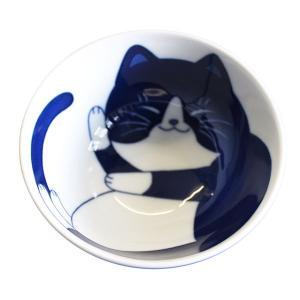 (業務用・茶碗)ねこちぐらハチワレG型茶椀(小)(入数:5)|sarara-tt
