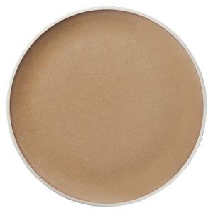 (業務用・丸皿)ルスト 28.5cmフラットプレート デザートブラウン(入数:5) sarara-tt