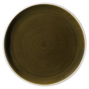 (業務用・丸皿)ルスト 28.5cmフラットプレート アンティークグリーン(入数:5) sarara-tt