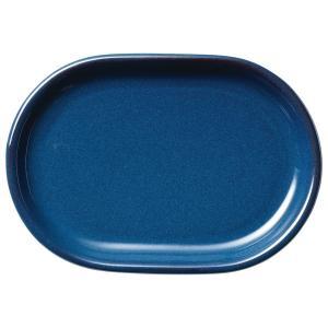 (業務用・楕円皿)カントリーサイド 26cmプラター フォールズブルー(入数:5)|sarara-tt