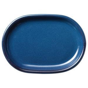 (業務用・楕円皿)カントリーサイド 24cmプラター フォールズブルー(入数:5)|sarara-tt