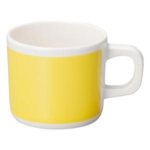 (業務用・マグカップ)メラミン食器 マグカップ イエロー(入数:5)|sarara-tt