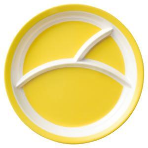 (業務用・ランチプレート)メラミン食器 25.5cm3つ仕切りラウンドプレート イエロー(入数:5)|sarara-tt