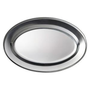 (業務用・楕円皿)ステンレス 35cmオーバルプラター (入数:5)