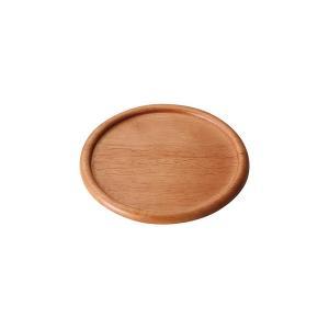 (業務用・丸皿)ウッドボウル&プレート 14cmラウンドプレート ライトブラウン(入数:5)