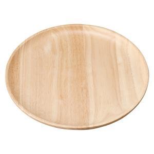 (業務用・丸皿)木製 20.5cmプレート ナチュラル(入数:5)|sarara-tt